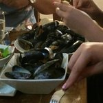 1 kilo of mussels for just under £13!! Amazingly good!!