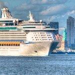 Cruise Ship leaving New York