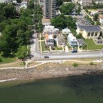 Aerial view of The Harbor House