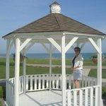 The gazebo next to the Lodge