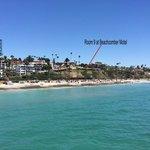Beachcomber Motel seen from the pier