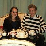 rincón romántico para té para dos