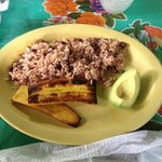 Gallo Pinto and fried plantains