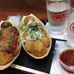 ねぎだこ with おろし天つゆ&ソースのたこ焼き
