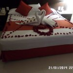 Anniversary surprise my husband arranged with hotel