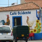 )ne of the local cafes in Azoia
