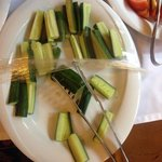 These cucumbers were stale, as were the fruits and pastries