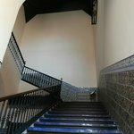 scalone di accesso al cuarto real