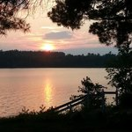 Watch the sunset and listen for the Loons!  Beautiful sounds!