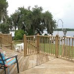 Boat dock at the edge of the property, boaters welcome