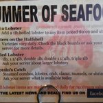 Here is the summer lobstah special