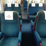 Pay an extra quid and upgrade to First Class. Luxury!