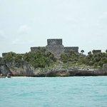 Tulum vu depuis la mer