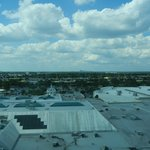 Distant Downtown Orlando from upper floor room