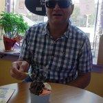 Enjoying the ice-cream