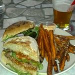 Lamb Burger with Sweet Potato Fries