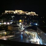Ancient Agora of Athens with Acropolis view