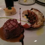 Fillet steak and lobster at the Surf and Turf Restaurant