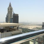 Dubai city view from roof top