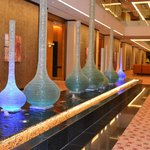 Fountains inside hotel