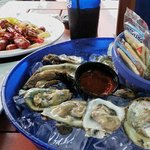 happy hour specials - doz. oysters & Louisiana crawfish