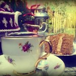 Afternoon tea & cake in our courtyard garden