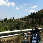Looking Mystras from the hill parking