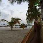 Vue de la plage-hamac