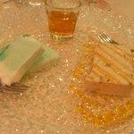 Semifreddo latte menta e semifreddo nocciole e caramello