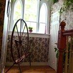 spinning wheel in hallway