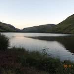 view at sunset up the lake