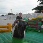 Mike riding the Bull!