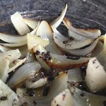 Marinated onions and ants