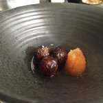 roasted potatoes and fish roe