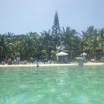 Looking back at Bananaramma from beach