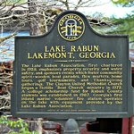 Lake Rabun / Lakemont, Georgia marker at Hall's Boat House, 5 min from the hotel
