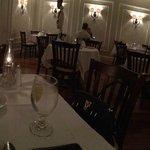 Empty restaurant on a Friday evening