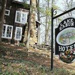 Colorful signage at Lake Rabun Hotel