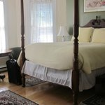 nice big bedroom, attached bathroom was smaller with stand-up shower