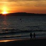 Sunset on the beach.