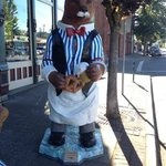 One of the many bear statues in town.