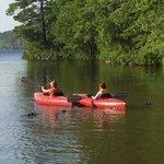 Easy kayaking in Medomak's cove