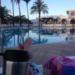 morning coffee by the pool :-)