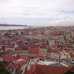 Essa vista é de cima do Castelo de São Jorge