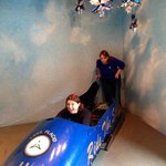 My mom and I testing out the Bobsled.