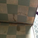 Heavily stained desk chair