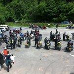 Happy group of Motorbikers