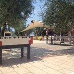 Bar area and Ping Pong at pool