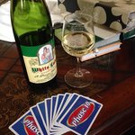 With no tv we enjoyed spending the evenings together playing cards and drinking a bottle of wine