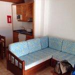Lounge area kitchen